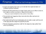 finance what our technology means to you