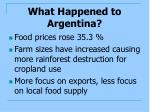 what happened to argentina