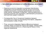 1 the logic and experience of intra regional investment