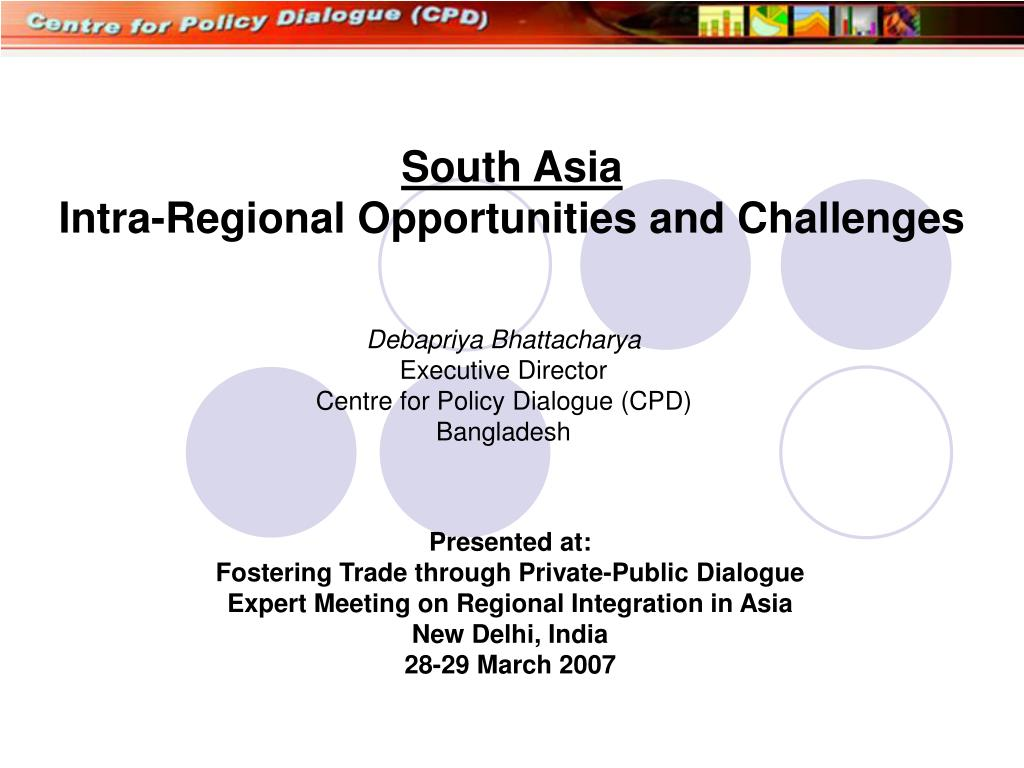 south asia intra regional opportunities and challenges l.