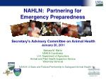 nahln partnering for emergency preparedness