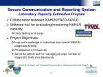 secure communication and reporting system laboratory capacity estimation program