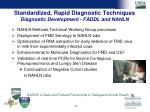 standardized rapid diagnostic techniques diagnostic development faddl and nahln30