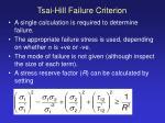 tsai hill failure criterion25