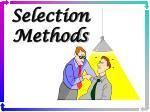 selection methods