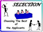 selection