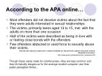 according to the apa online