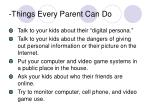 things every parent can do
