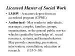 licensed master of social work