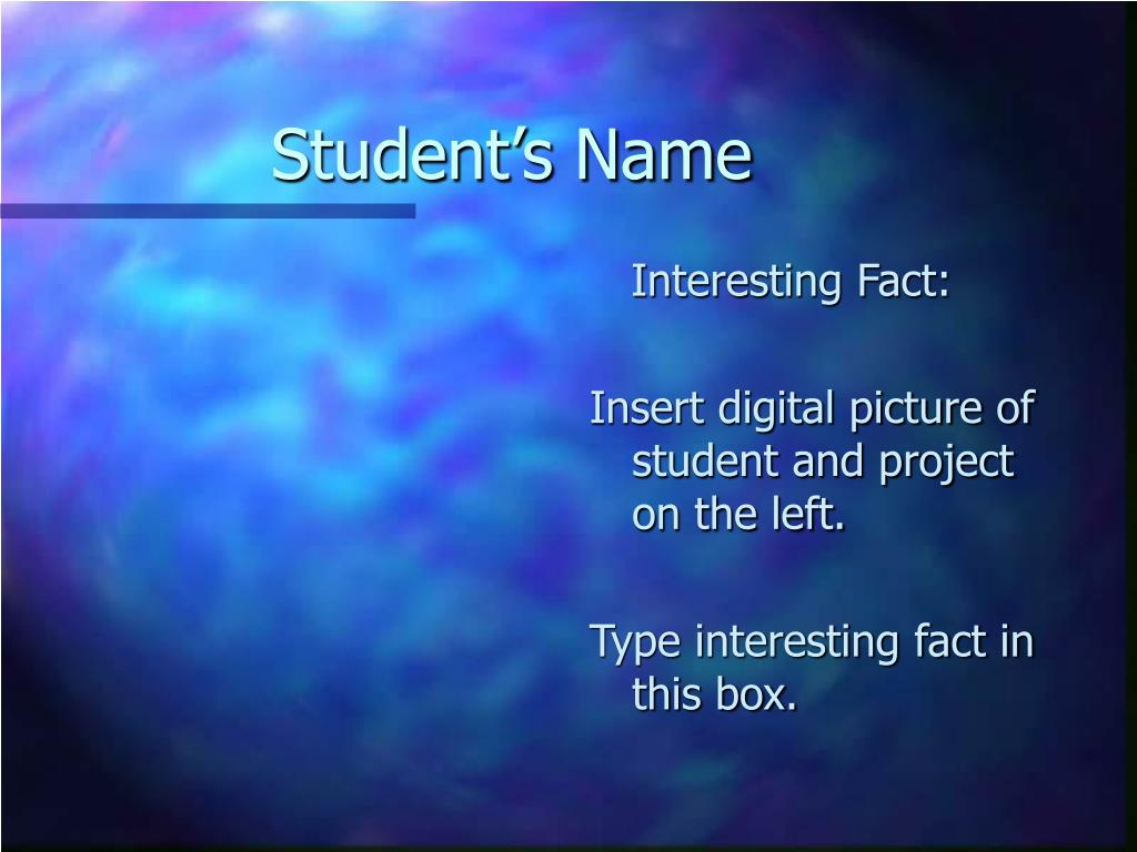 Student's Name