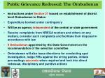 public grievance redressal the ombudsman