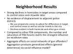 neighborhood results