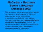 mccarthy v boozman boone v boozman arkansas 2002