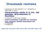 itraconazole resistance