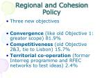 regional and cohesion policy