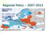 regional policy 2007 2013