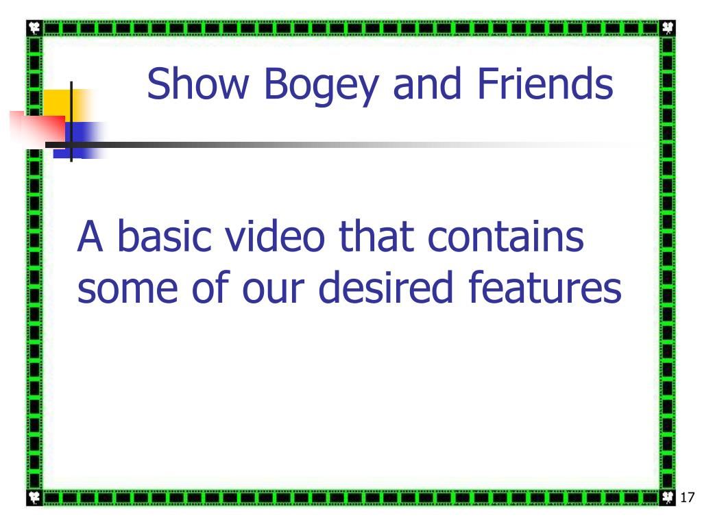A basic video that contains some of our desired features