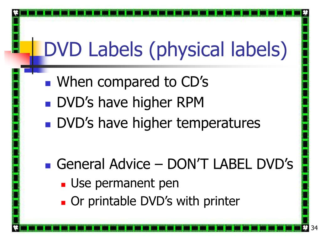 DVD Labels (physical labels)
