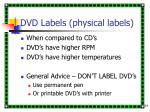 dvd labels physical labels