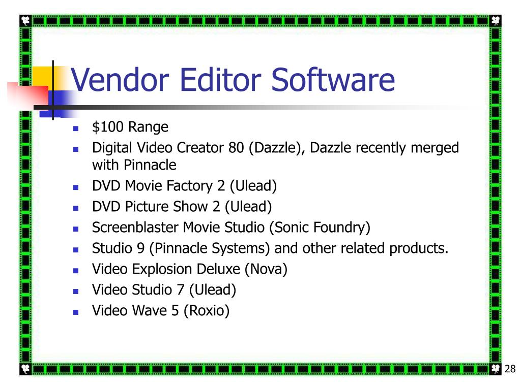 Vendor Editor Software
