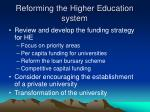 reforming the higher education system