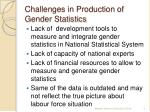 challenges in production of gender statistics