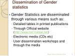 dissemination of gender statistics