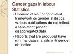 gender gaps in labour statistics