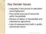 key gender issues