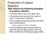 production of labour statistics