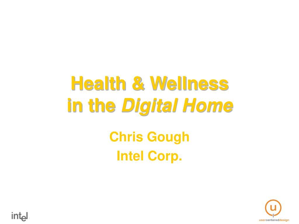 health wellness in the digital home l.