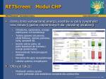 retscreen modu chp