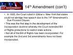 14 th amendment con t