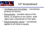 14 th amendment