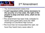2 nd amendment