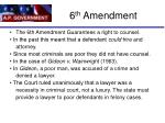6 th amendment