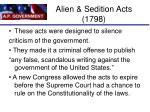 alien sedition acts 1798