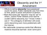 obscenity and the 1 st amendment