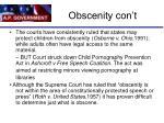 obscenity con t