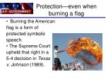 protection even when burning a flag