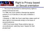 right to privacy based on sexual orientation
