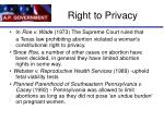 right to privacy66