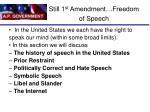 still 1 st amendment freedom of speech
