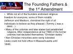 the founding fathers the 1 st amendment