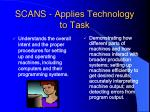 scans applies technology to task