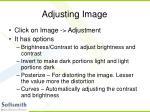 adjusting image