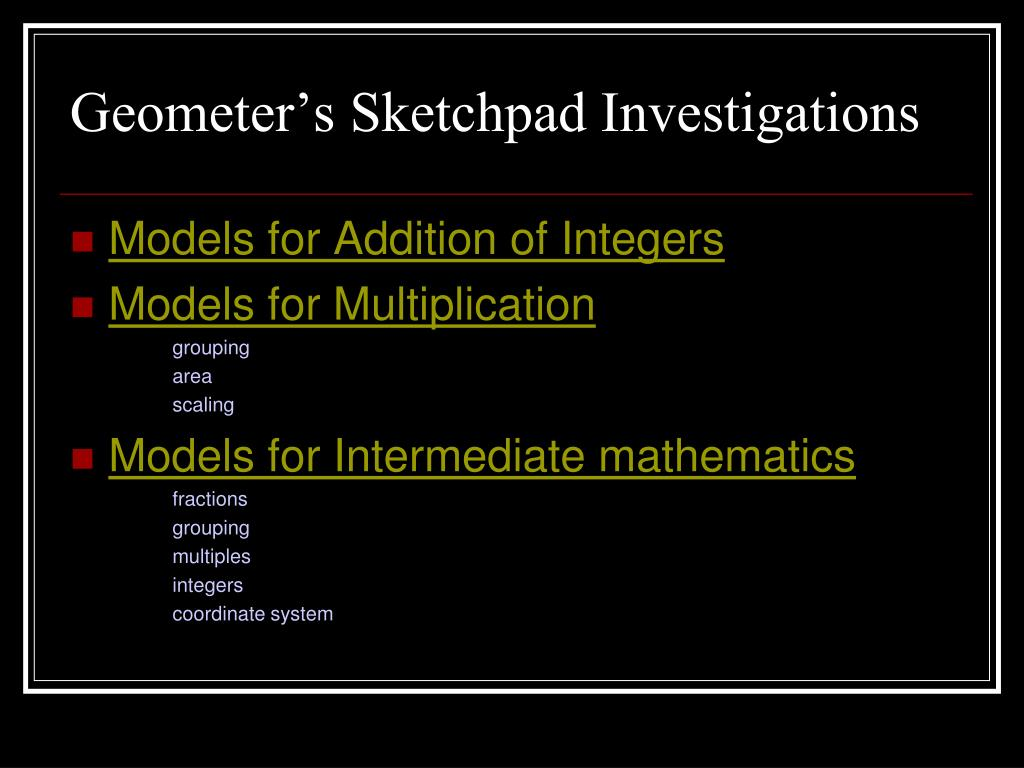 Geometer's Sketchpad Investigations