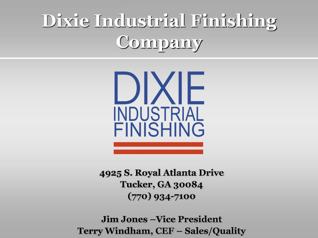 dixie industrial finishing company l.