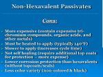 non hexavalent passivates