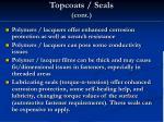 topcoats seals cont
